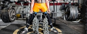 Chain deadlifts, as demonstrated by someone who knows what he is doing